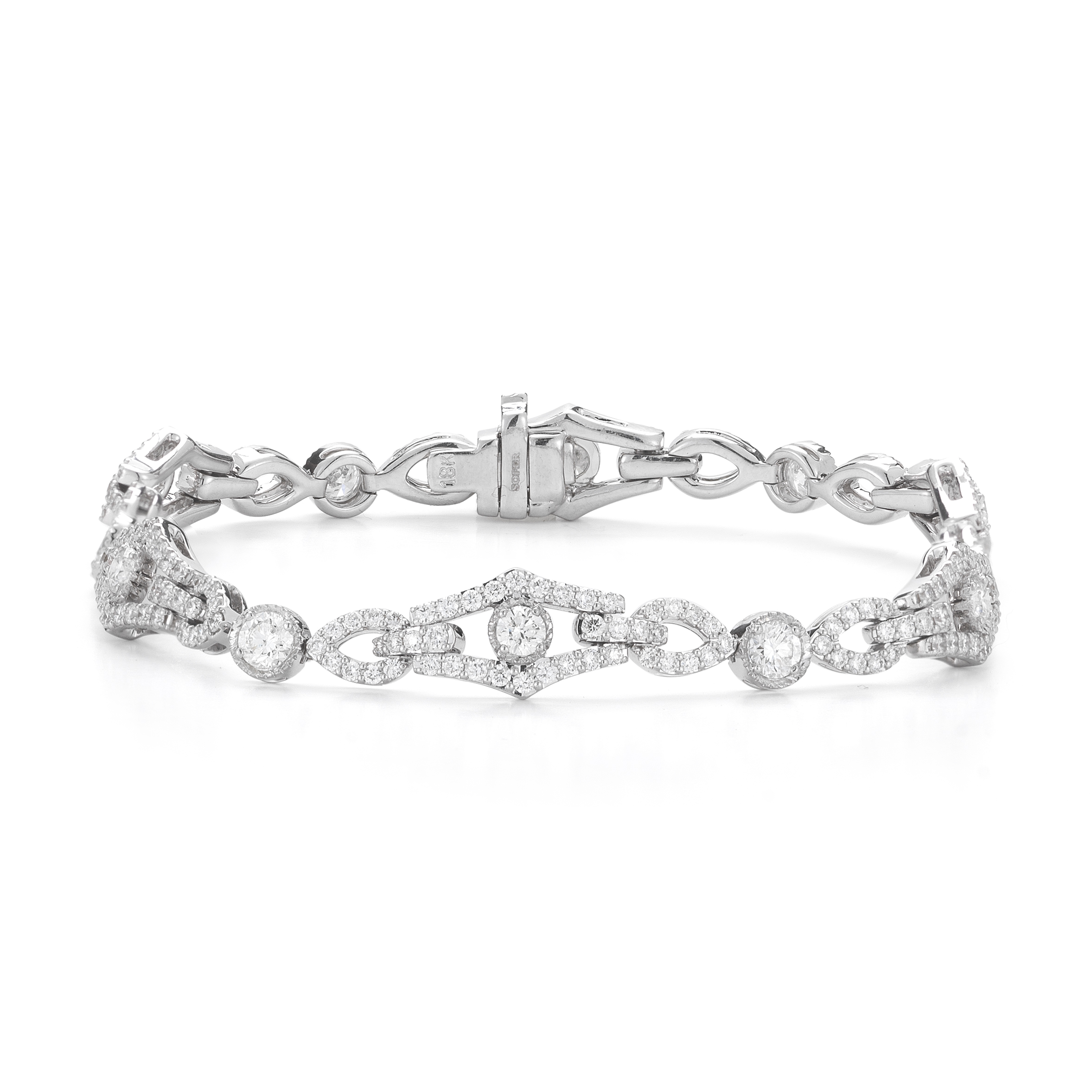 band bezel sterling rhodium alternating eternity default plated round silver bracelet set cz ring diamond